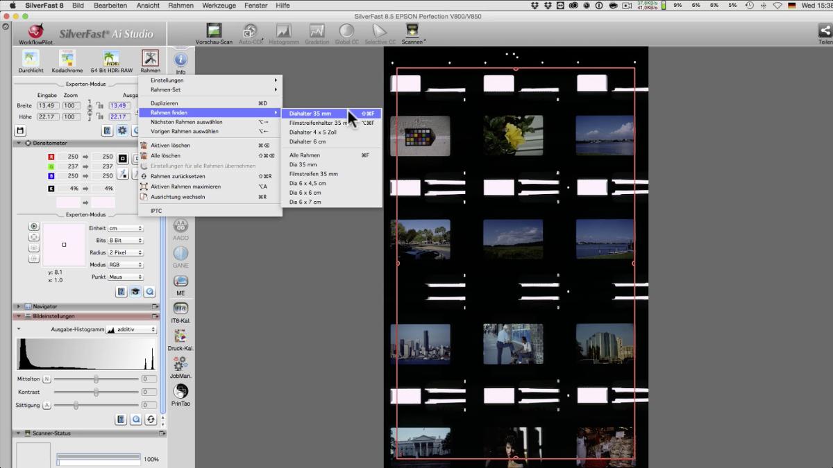 Optimierte Rahmen-Erkennung :: LaserSoft Imaging