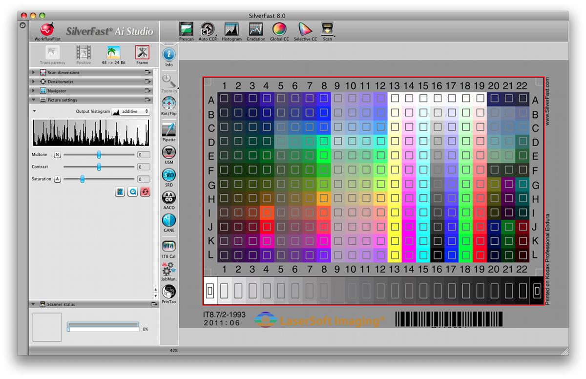 IT8 Targets for Scanner Color Calibration :: LaserSoft Imaging