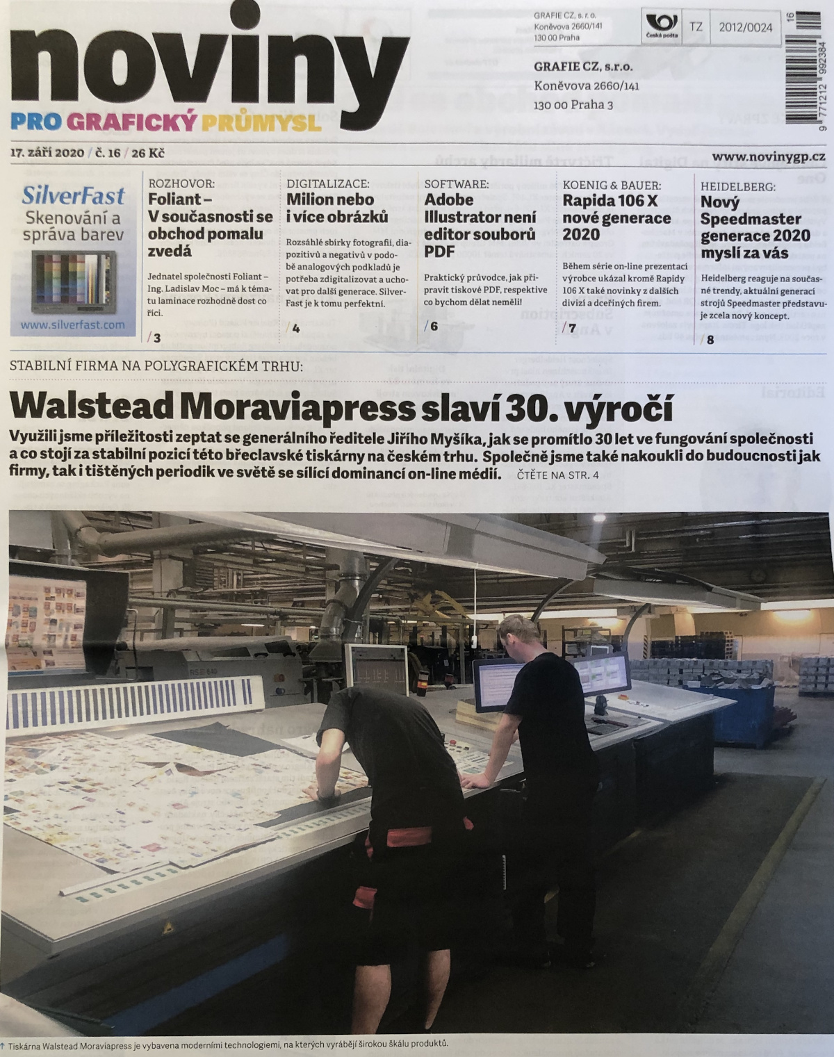Cover Noviny Pro Grafický Průmysl