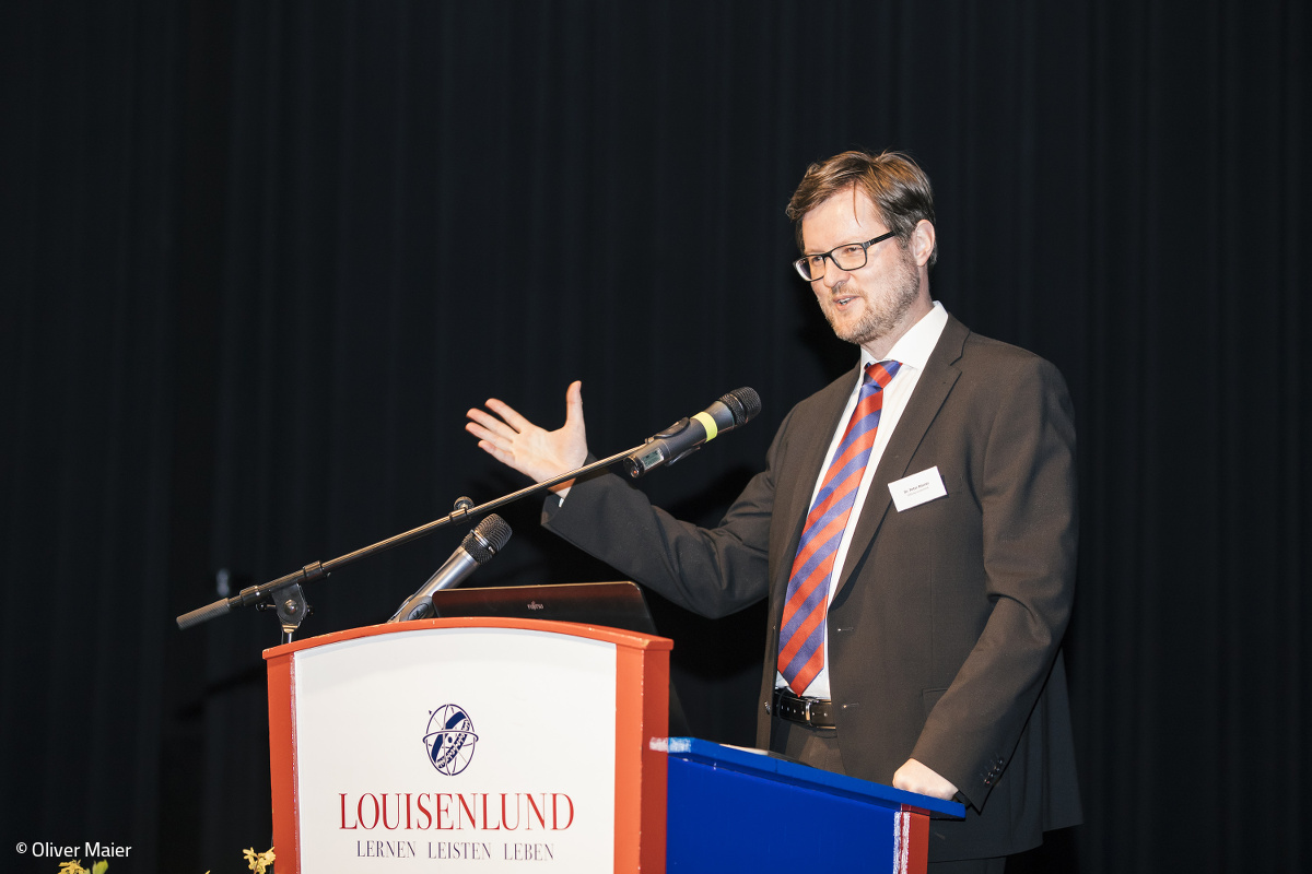 Welcome by boarding house director Dr. Peter Rösner