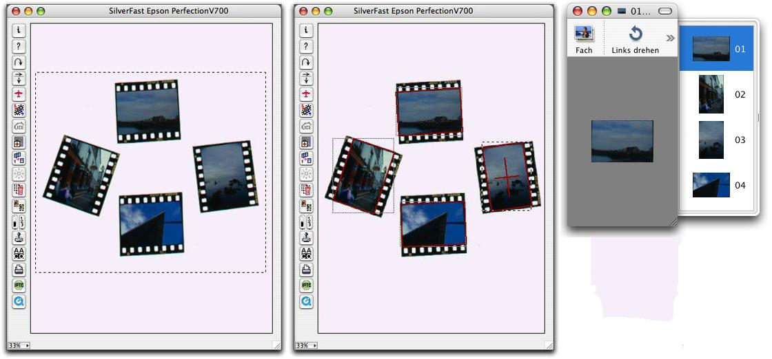 Auto-Rahmenausrichtung :: LaserSoft Imaging