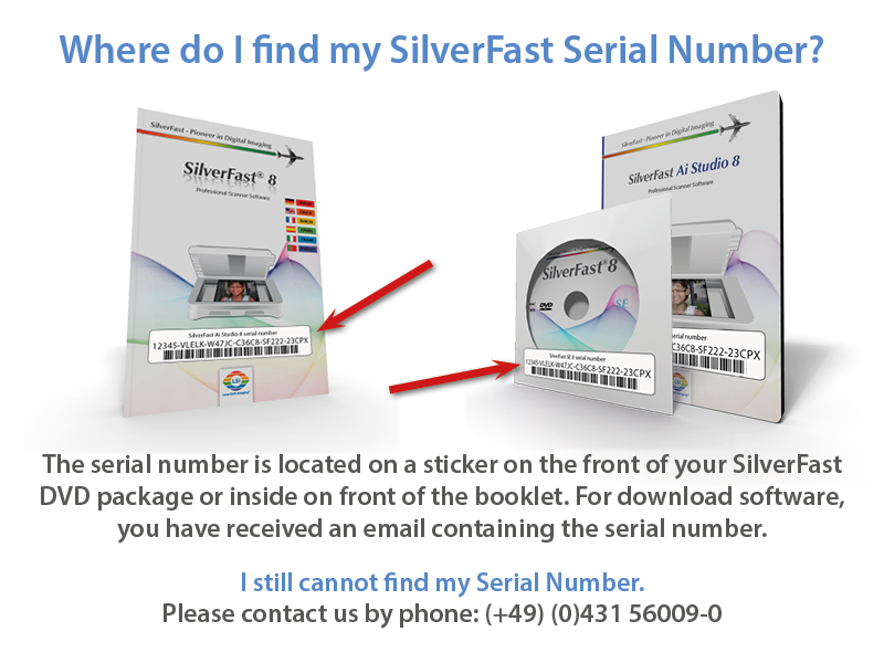 Register silverfast lasersoft imaging where do i find my serial number ccuart Gallery